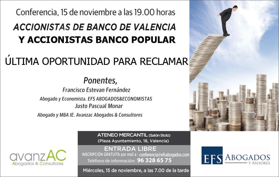 Última oportunidad para recuperar sus ahorros del Banco de Valencia y el Banco Popular